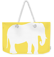 Elephant In Yellow And White Weekender Tote Bag