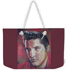 Weekender Tote Bag featuring the pastel Elvis by Peter Suhocke