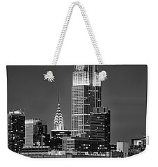 Empire And Chrysler Buildings Weekender Tote Bag