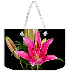 Erotic Pink Purple Flower Selection Romantic Lovely Valentine's Day Print Weekender Tote Bag