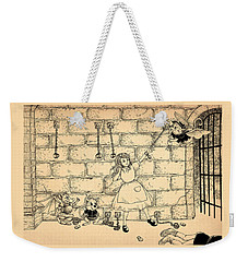 Weekender Tote Bag featuring the drawing Escape by Reynold Jay