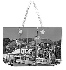 Family Thing - Black And White Weekender Tote Bag by Suzanne Gaff