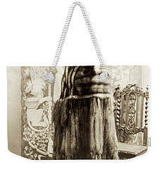 Weekender Tote Bag featuring the photograph Fashion Fur, 1925 by Granger