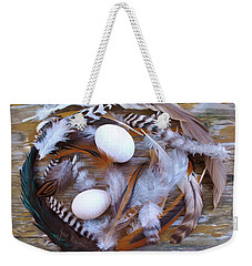 1. Feather Wreath Example Weekender Tote Bag