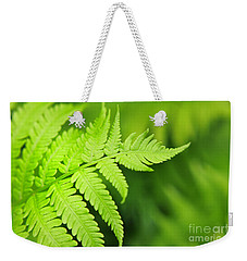 Fern Leaf Weekender Tote Bag by Charline Xia