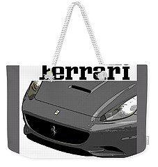 Weekender Tote Bag featuring the photograph Ferrari by J Anthony