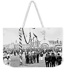 Weekender Tote Bag featuring the photograph Festival Place Millerntor Hamburg Germany 1903 by A Gurmankin