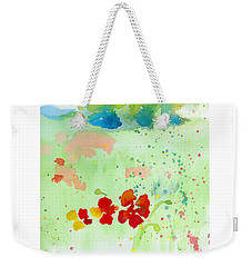 Weekender Tote Bag featuring the painting Field Of Flowers by C Sitton