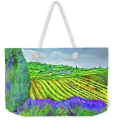 Fields At Dievole Weekender Tote Bag