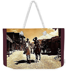 Film Homage Mark Slade Cameron Mitchell Riding Horses The High Chaparral Old Tucson Az C.1967-2013 Weekender Tote Bag