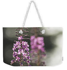 Weekender Tote Bag featuring the photograph Fireweed by Yulia Kazansky