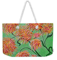 Weekender Tote Bag featuring the painting Fireworks by Alys Caviness-Gober