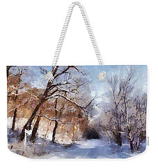 First Snowy Day Weekender Tote Bag