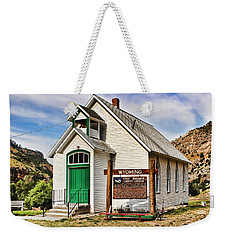 First Washakie County Church Weekender Tote Bag by Cathy Anderson
