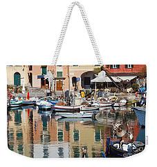 fishing boats in Camogli  Weekender Tote Bag