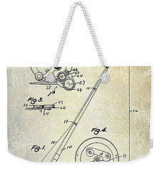Fishing Reel Patent 1939 Weekender Tote Bag by Jon Neidert