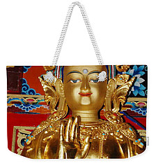 Weekender Tote Bag featuring the photograph Five Dhyani Buddhas by Lanjee Chee