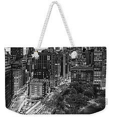 Flatiron District Birds Eye View Weekender Tote Bag by Susan Candelario