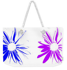 Flowers On White Weekender Tote Bag