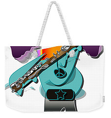 Weekender Tote Bag featuring the digital art Flute Player by Marvin Blaine
