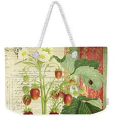 Fraise De La Creme Weekender Tote Bag by Aimee Stewart