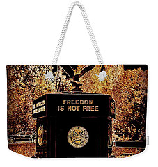 Weekender Tote Bag featuring the photograph Freedom Is Not Free by Kelly Awad