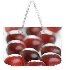 Weekender Tote Bag featuring the photograph Fresh Cranberries Isolated by Lee Avison