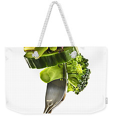 Fresh Vegetables On A Fork Weekender Tote Bag