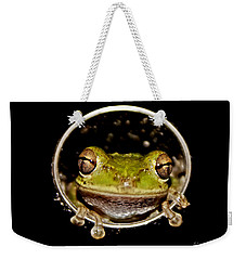 Weekender Tote Bag featuring the photograph Frog by Olga Hamilton