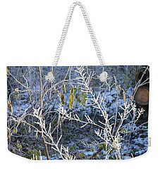Weekender Tote Bag featuring the photograph Frozen by Felicia Tica
