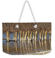 Frozen Pilings Weekender Tote Bag by Michael Porchik