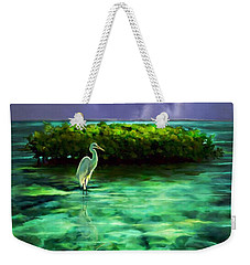 Full Moon Fishing Weekender Tote Bag by David  Van Hulst