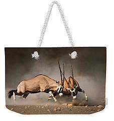 Gemsbok Fight Weekender Tote Bag