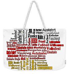 Germany Map Weekender Tote Bag