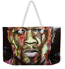 Weekender Tote Bag featuring the painting Get Rich Or Die Tryin' by Laur Iduc