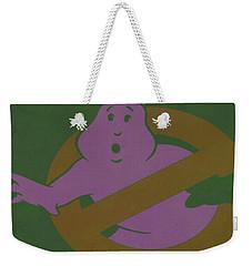 Weekender Tote Bag featuring the digital art Ghostbusters Movie Poster by Brian Reaves
