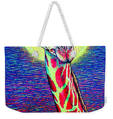 Weekender Tote Bag featuring the painting Giraffe by Viktor Lazarev