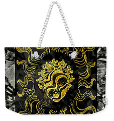 Weekender Tote Bag featuring the photograph Golden God by Nareeta Martin