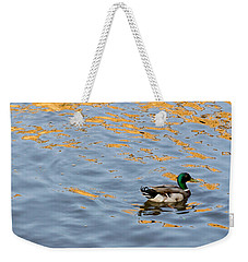 Golden Ripples Weekender Tote Bag by Keith Armstrong