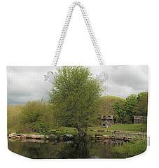 Grays Mill Pond Weekender Tote Bag by Angela DeFrias
