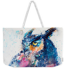 Great Horned Owl Weekender Tote Bag by Kovacs Anna Brigitta