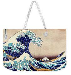 Great Wave Off Kanagawa Weekender Tote Bag by Katsushika Hokusai