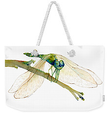 Green Dragonfly Weekender Tote Bag