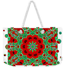 Weekender Tote Bag featuring the painting Happy Holiday by Oksana Semenchenko