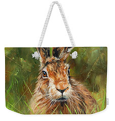 hARE Weekender Tote Bag by David Stribbling