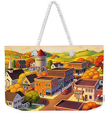 Harmony Town Weekender Tote Bag by Robin Moline