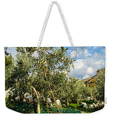 Weekender Tote Bag featuring the photograph Harvest Day by Dany Lison
