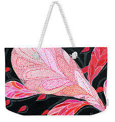 Weekender Tote Bag featuring the drawing Heartpods by Kim Sy Ok