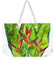 Heleconia Weekender Tote Bag by Diane Thornton