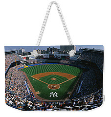 High Angle View Of A Baseball Stadium Weekender Tote Bag